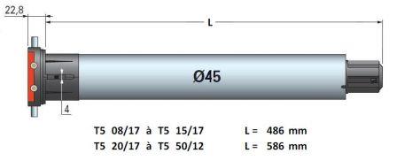 Dimensions moteur T5 SIMU