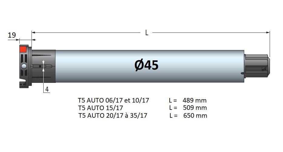 Dimensions T5 AUTO